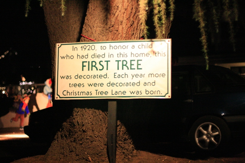 U201cIn 1920, To Honor A Child Who Had Died In This Home, This First Tree Was  Decorated. Each Year More Trees Were Decorated And Christmas Tree Lane Was  Born.